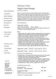 Supply Technician Resume Sample Supply Chain Management Resume Job