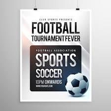 Football Invitation Template Football Tournament Flyer Invitation Template Download Free Vector