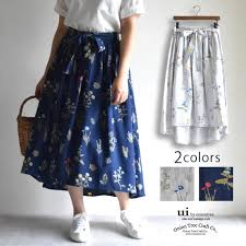 Long Skirt Patterns Interesting Oniontree Rakuten Global Market Wild Flower SK Long Skirt