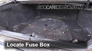 interior fuse box location cadillac seville  locate interior fuse box and remove cover