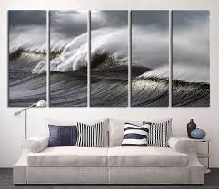 extra large wall art canvas black ocean wave by extralargewallart on extra large ocean wall art with extra large wall art canvas black ocean wave by extralargewallart