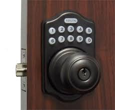 front door keyless entryLockey E Digital Keyless Electronic Knob Door Lock Bronze with Remote