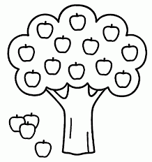 Apple Coloring Pages For Kindergarten With Sheets Toddlers Also