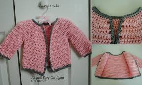 Free Crochet Baby Sweater Patterns Delectable Abigail Baby Girl Cardigan Cre48tion Crochet