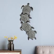 x 33 5 in metal sea turtle wall art