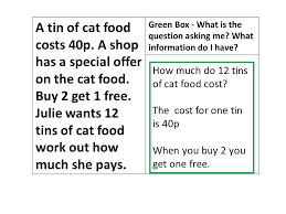 boxing up a mathematical essay what is the question asking me a tin of cat food costs 40p a shop has a special offer on the