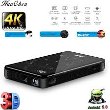 HUACHEN 3DProjector P09II WIFI Android Support 1080P Portable ...