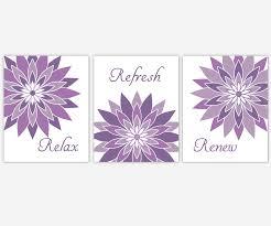 bathroom canvas wall art purple lavender relax refresh renew modern fl canvas prints bathroom decor