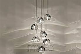 multi light pendant lighting fixtures. mizu crystal multi light pendant by terzani lighting fixtures
