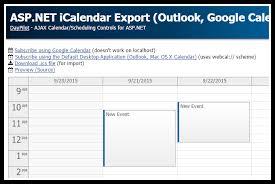 Asp Net Icalendar Export Outlook Google Calendar Mac Os X