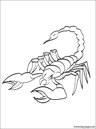 Small Picture Scorpion coloring page to print out Coloring pages