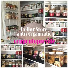 Pantry Organization Ideas on a Budget| Dollar Store and Repurposed Products  | July 2016