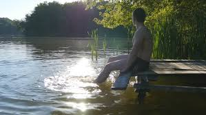 Video By The Lake Man Relaxes By The Lake Stock Footage Video 100 Royalty Free 19763038 Shutterstock