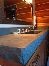natural rustic concrete countertop featuring stainless steel sink s m l f