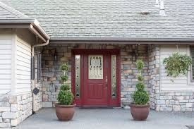 front door with one sidelightShould the Sidelights Match the Front Door or Match the Trim