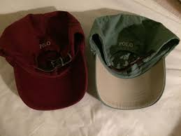 polo ralph lauren leather strap back hats both hats product images of