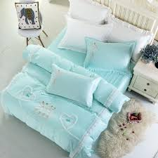 beautiful girls dance bedding set king queen size white lace duvet cover bed sheet set pillow