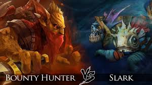dota 2 bounty hunter vs slark one click battle youtube