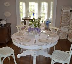White Distressed Kitchen Table Cottage Tour Cottage Fix
