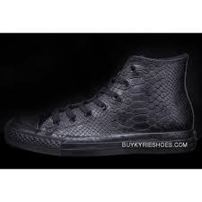 all black all star converse high tops crocodile leather chuck taylor sneakers latest