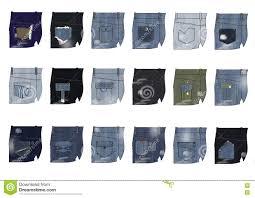 Pocket Jeans Design Denim Back Pocket Design Stock Illustration Illustration Of