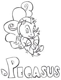 Baby Pegasus Coloring Pages Pinterest Hercules Chronicles Network