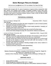 Sample Resume For Business Manager Sales Manager Resume Sample