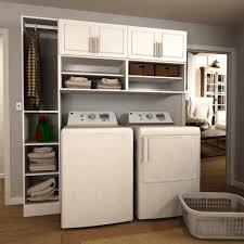 laundry furniture. W White Open Shelves Laundry Cabinet Kit Furniture