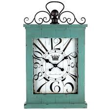 shabby chic wall clock wood wall clock