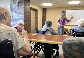 tina reese leads a word game for residents at a nursing home in lancaster pa 1 insurers push for rate hikes in long term care coverage
