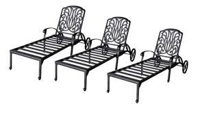 patio lounge set 3 adjustable chaise