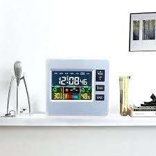 sharp atomic weather station alarm clock spc315 digital temperature humidity