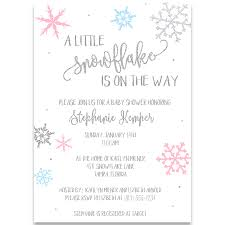 Snowflake Baby Shower Invitations Little Snowflake Baby Shower Invitation Pink And Blue The Invite Lady