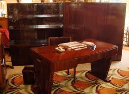 deco office. Art Deco Mahogany Executive Office Suite N