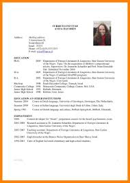 academic resumes for highschool students virtren com - How To Write A Academic  Resume