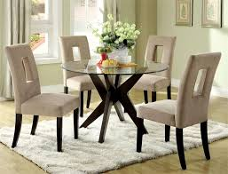 lovable glass top kitchen table round glass dining table set for 4 pertaining to round glass dining table