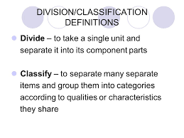 division classification definitions ppt video online division classification definitions