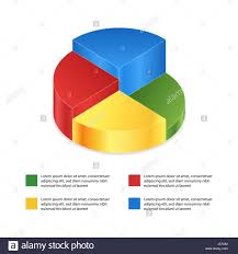 Pie Chart On Isolated Background Isometric Pie Charts