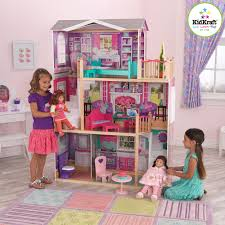 elegant manor kidkraft dollhouse on cozy pergo flooring and exciting carpet tiles