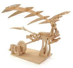 pathfinders leonardo da vinci ornithopter working wooden model kit 25615 hobbies