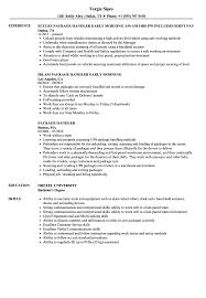 Package Handler Resume Samples Velvet Jobs