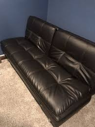 bonded leather sofa bed couch sebu