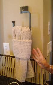 Love this simple way to display your favorite bath towels. Bathroom Towel  DecorBathroom IdeasBath ...