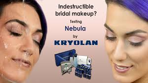 indestructible bridal makeup testing nebula by kryolan trucco sposa indistruttibile