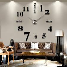 Buy 3D DIY Large Wall Clock Black At Marketplacefinds For Only $ 24.99.  Decorating Office At WorkCreative Office DecorModern Office DecorModern Living  Room ...