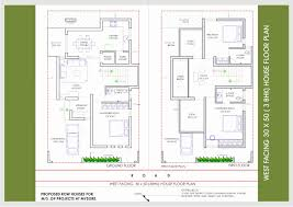 20 x 60 house plans north facing