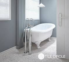 bathroom floor tile grey. aspen white marble mosaic bathroom floor tile with claw foot bathtub grey