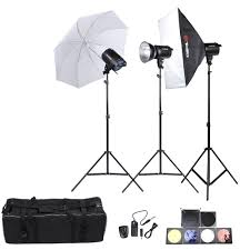 tolifo professional photography photo studio sdlite lighting lamp kit set with 3 300w studio flash strobe light stand softbox soft umbrella cloth