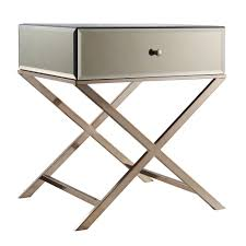 Camille X Base Mirrored Accent Campaign Table by iNSPIRE Q Bold by iNSPIRE Q