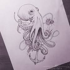 Small Picture 166 best octopus images on Pinterest Octopus tattoos Drawings